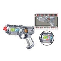 Пистолет на бат. свет+звук+вибро в русс. кор. 28*18*5,5см в кор.2*48шт (286004)
